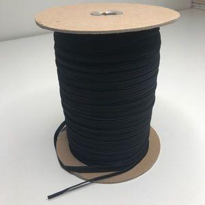 "8 Yards 1/4"" Black Elastic Sewing Trim"